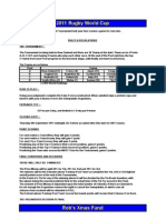 Rugby World Cup 2011 Entry Form