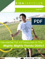 Treasurer August Newsletter