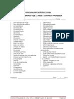 Ficha observação de alunos-professores