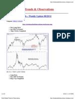 Stock Market Trends & Observations - 08/20/11