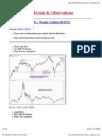 08/19/11 - Stock Market Trends &Observations