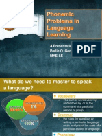 Phonemic Problems in Language Acquisition