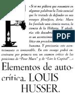Althusser, Louis (1974) Elementos de auto-crítica