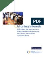 Aligning Interests Incentives 2007