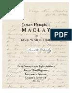 James Hemphill Maclay Civil War Letters
