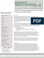 LTRC Capsule 11-1P LADOTD Pavement Management System (PMS) for Project Level Applications