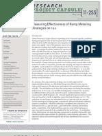 LTRC Capsule 11-2SS Measuring Effectiveness of Ramp Metering Strategies on I-12