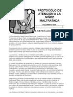 PROTOCOLO DE ATENCIÓN A LA NIÑEZ MALTRATADA