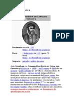 Johannes Gutenberg .