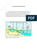 The Land Used Effects to Hydro Logic Cycle