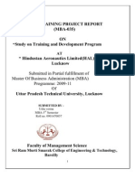 48041656 a Project Report on Training and Development of HAL