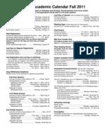Academic Calendar Fall 20112