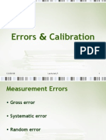 Errors and Calibration