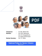 Draft National Policy on Senior Citizens Aug2011