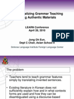 4 28 Contextualizing Grammar Teaching Using Authentic Materials