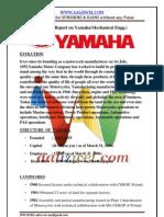 Training Report on Yamaha