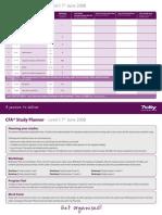 Cfa Study Planner