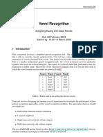 Vowel Recognition