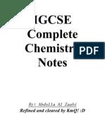 IGCSE Chemistry Notes
