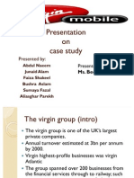 Presentation on Virgin Case