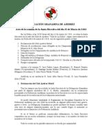 Acta Junta Directiva 13-3-2011