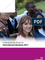 2011 International Undergraduate Course Brochure