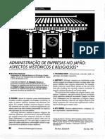 ADMINISTRAÇÃO DE EMPRESAS NO JAPAO - ASPECTOS HISTORICOS E RELIGIOSOS