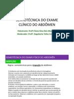 Semiotécnica do Exame Clínico de Abdômen