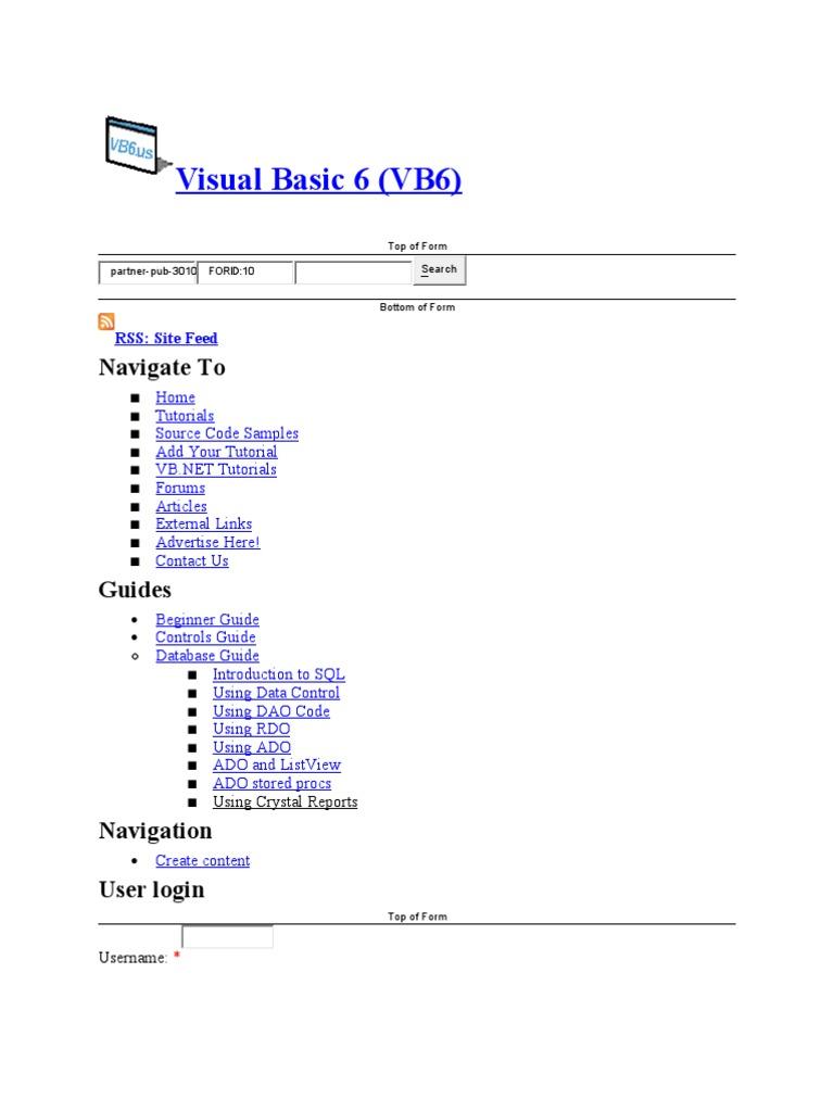 Visual Basic 1 | Databases | Microsoft Access
