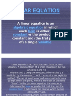 Linear Equation `