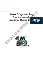 Java Programming Fundamentals Academic Student Guide