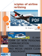 Principles of Airline Advertising