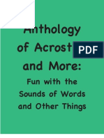 Anthology of Acrostics and More