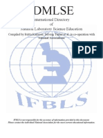 International Directory of Medical Laboratory Science Education