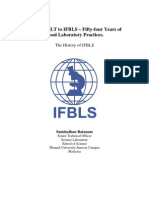 From IAMLT to IFBLS – Fifty-four Years of Good Laboratory Practices