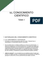 Tema 1 El Conocimiento Cientifico