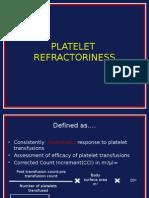 Platelet Refractoriness