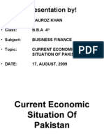 19255599 Current Economic Situation of Pakistan