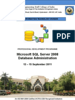 MS SQL Server Database Administration 12 - 15 September