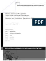 MPP Education and Examination Regulations 2011/12
