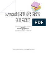 Summary and Note-Taking Skill Packet