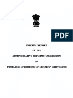 Interim Report of Administrative Reforms Commission on Problems of Redress of Citizens' Grievances, 1966