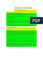 united states history power standards 2011-2012