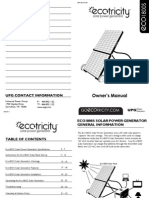 87530 Eco1800S Solar Power Generator Owner's manual VR011110