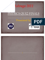 Ashraga 2011 - Physics Quiz Final