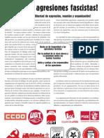 Manifiesto contra agresión fascista en la feria de Málaga
