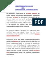 INTERVENCIÓN DEFINITIVA GOBIERNO MUNICIPAL M1-2011