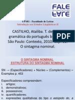 CASTILHO 2010 - O Sintagma Nominal