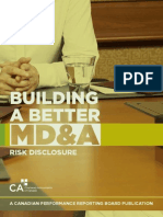 Building a Better MD and a Risk Disclosure
