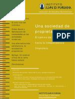 Instituto Juan de Mariana_Una Sociedad de Propietarios